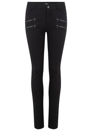 Paige Denim Edgemont High Rise Ponte Trousers - Black