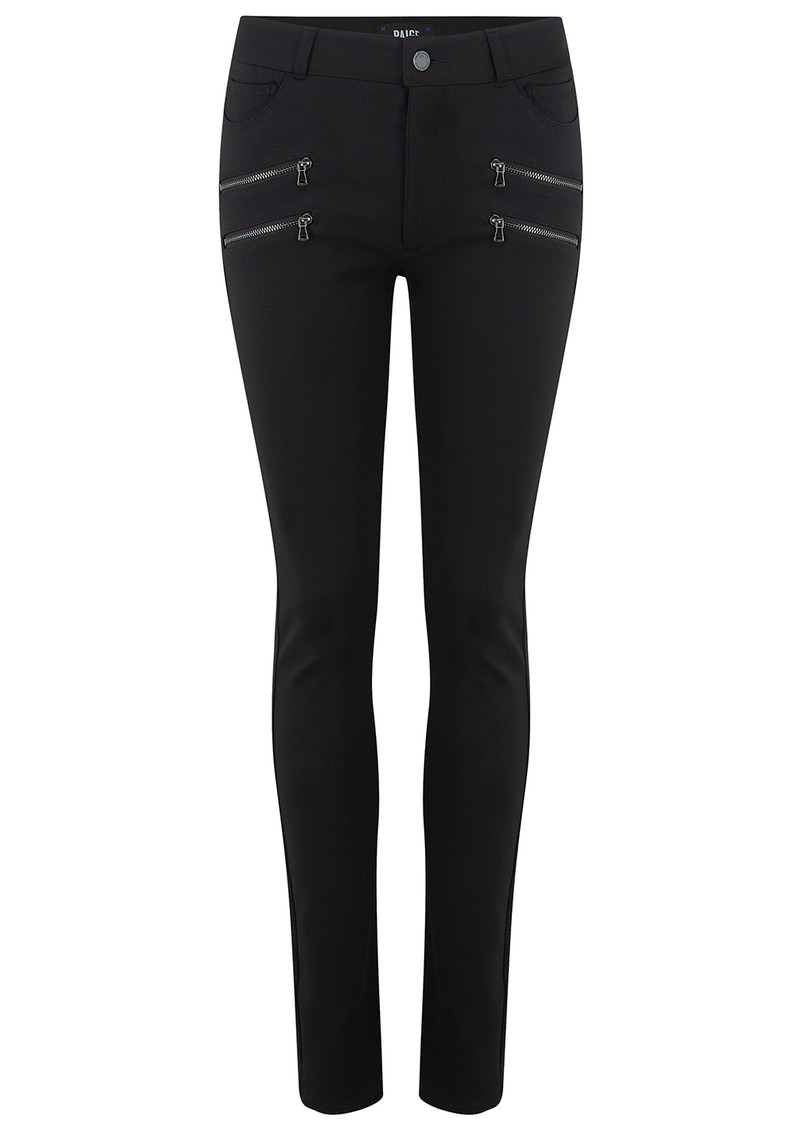 Paige Denim Edgemont High Rise Ponte Trousers - Black main image