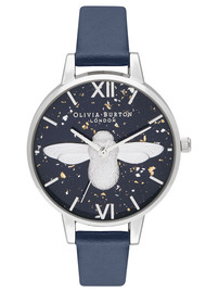 Olivia Burton Celestial 3D Bee Demi Dial Watch - Midnight, Navy & Silver
