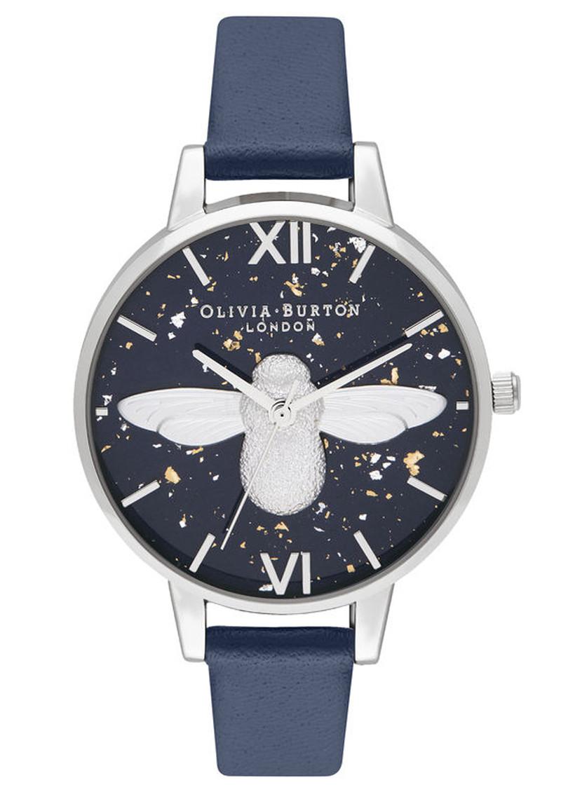 Olivia Burton Celestial 3D Bee Demi Dial Watch - Midnight, Navy & Silver main image
