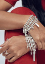 ChloBo Mini Noodle Ball Filigree Feather Bracelet - Silver