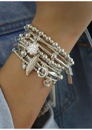 ChloBo Cute Charm Hummingbird Bracelet - Silver