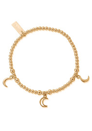 ChloBo Cute Charm Triple Moon Bracelet - Gold