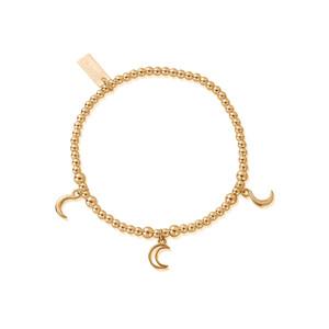 Cute Charm Triple Moon Bracelet - Gold