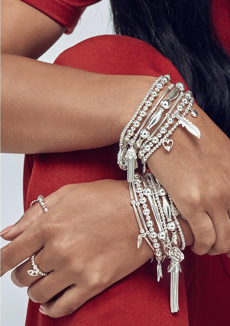 ChloBo Cute Charm Triple Moon Bracelet - Silver main image