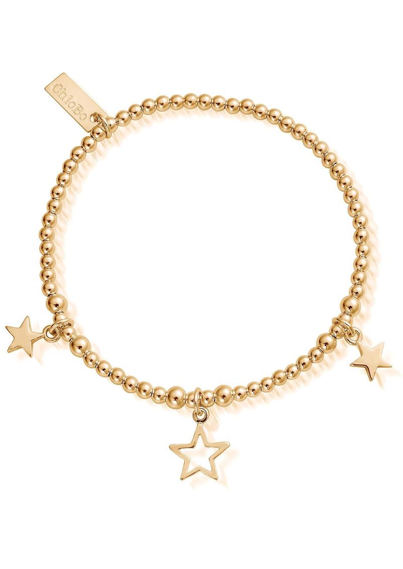 ChloBo Cute Charm Triple Star Bracelet - Gold main image