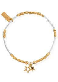 ChloBo Double Star Bracelet - Gold & Silver