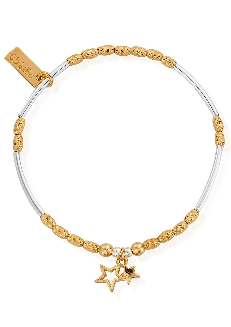 Double Star Bracelet - Gold & Silver main image