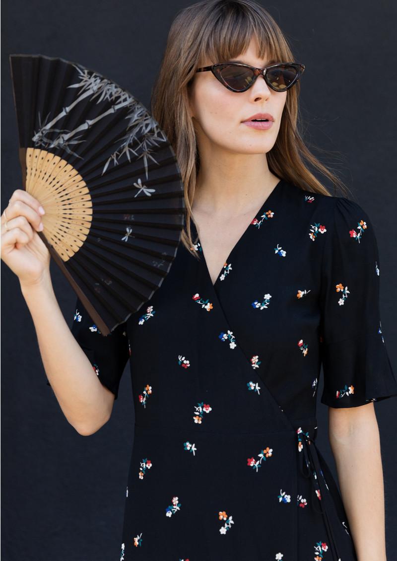 Rails Aimee Wrap Dress - Black Kyoto main image