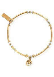 ChloBo Dainty Moon & Sun Bracelet - Gold & Silver