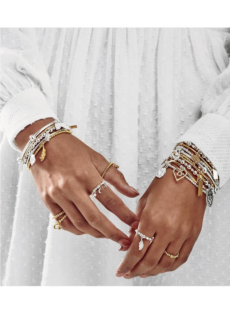 ChloBo Dainty Moon & Sun Bracelet - Gold & Silver main image