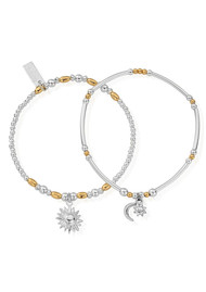 ChloBo Dusk to Dawn Set of 2 Bracelets - Gold & Silver