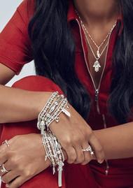 ChloBo Namaste Stack of 3 Bracelets - Silver
