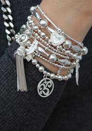 ChloBo Divine stack of 5 Bracelets - Silver