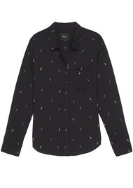 Rails Rocsi Shirt - Black Lightening