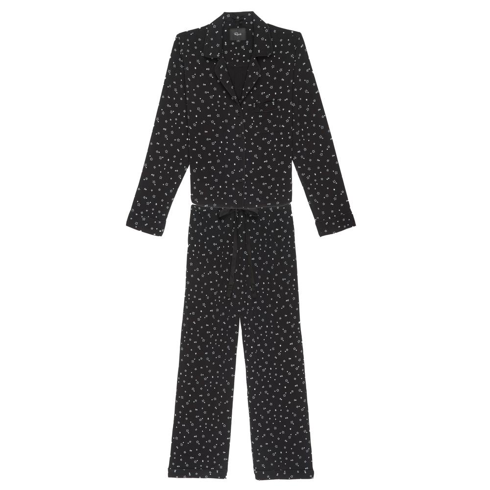Scribble Mini Stars Long Sleeve Pyjama Set - Black