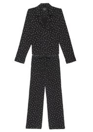 Rails Scribble Mini Stars Long Sleeve Pyjama Set - Black