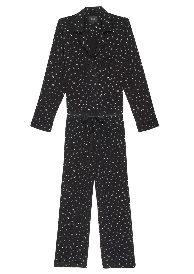 Rails Scribble Mini Stars Long Sleeve Pyjama Set - Black main image