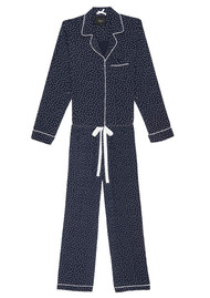 Rails Kenzie Mini Heart Long Sleeve Pyjama Set - Navy