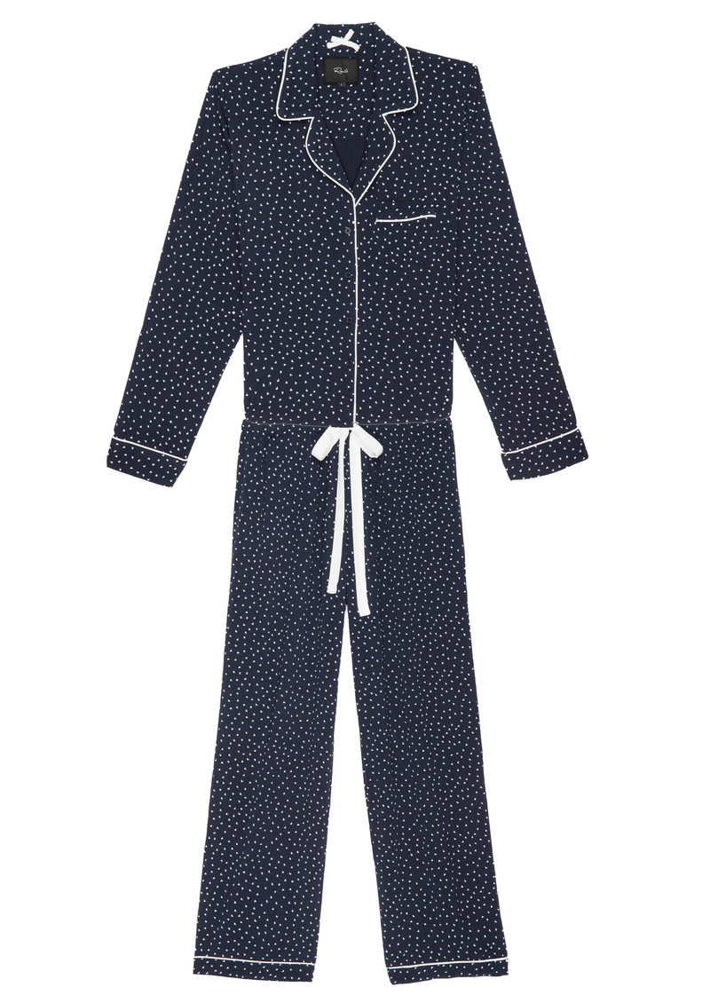 Rails Kenzie Mini Heart Long Sleeve Pyjama Set - Navy main image