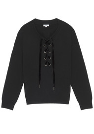 Rails Olivia Lace Up Jumper - Black