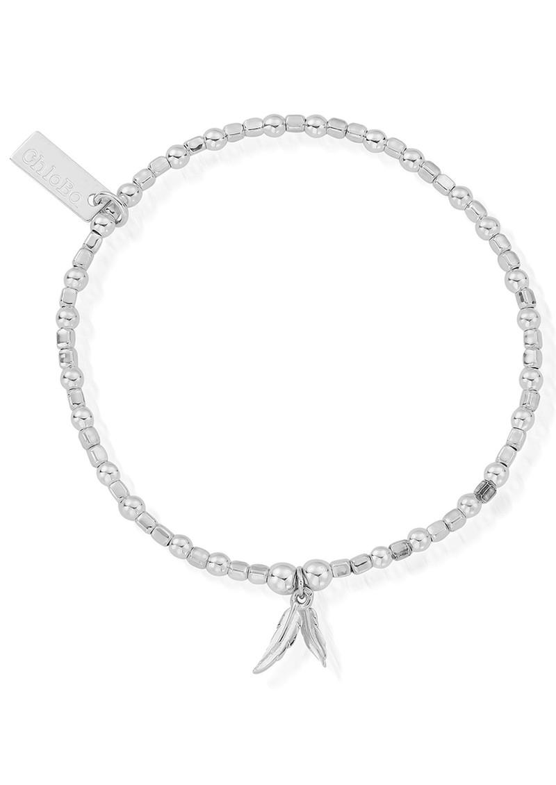 ChloBo Mini Cube Double Feather Bracelet - Silver main image