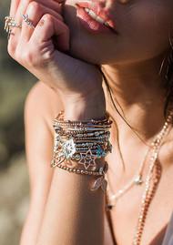 ChloBo Mini Cube Dainty Moon & Sun Bracelet - Rose Gold