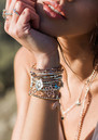 Mini Cube Dainty Moon & Sun Bracelet - Rose Gold additional image