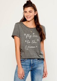 SOUTH PARADE Fly Me To The Moon Tee - Grey