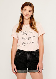 SOUTH PARADE Fly Me To The Moon Tee - Pink