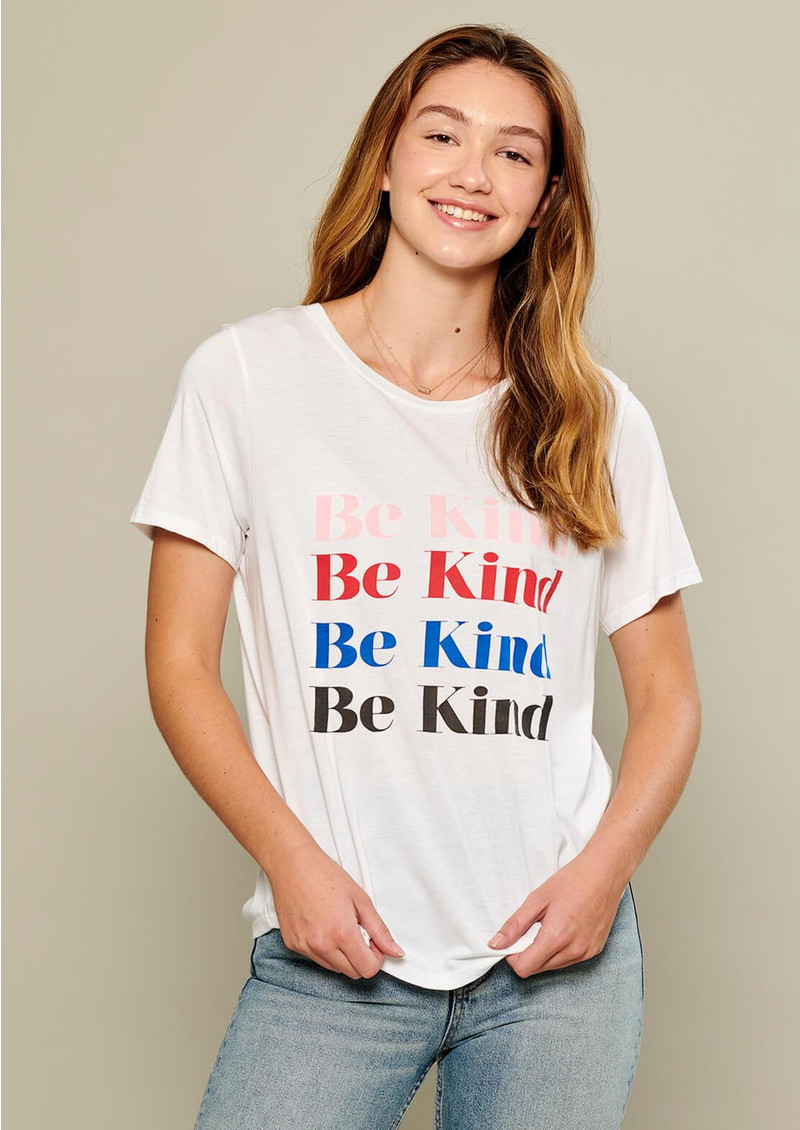 SOUTH PARADE Be Kind Tee - White main image