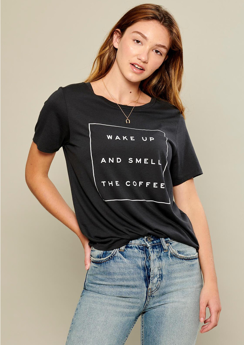 SOUTH PARADE Wake Up And Smell The Coffee Tee - Black main image