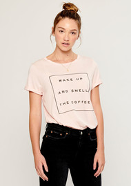 SOUTH PARADE Wake Up And Smell The Coffee Tee - Pink