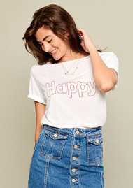 SOUTH PARADE Happy Tee - White