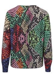 JUMPER 1234 Multi Snake Print Sweater - Version 1
