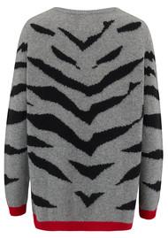 JUMPER 1234 Contrast Tiger Sweater - Grey