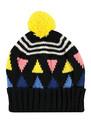 Triangle Pom Beanie Heat - Black additional image