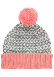 MISS POM POM Graphic Beanie Pom Hat - Pink