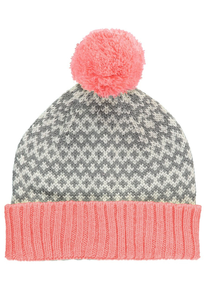 Graphic Beanie Pom Hat - Pink main image