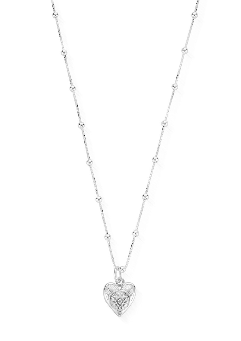 ChloBo Bobble Chain Heart Necklace - Silver main image