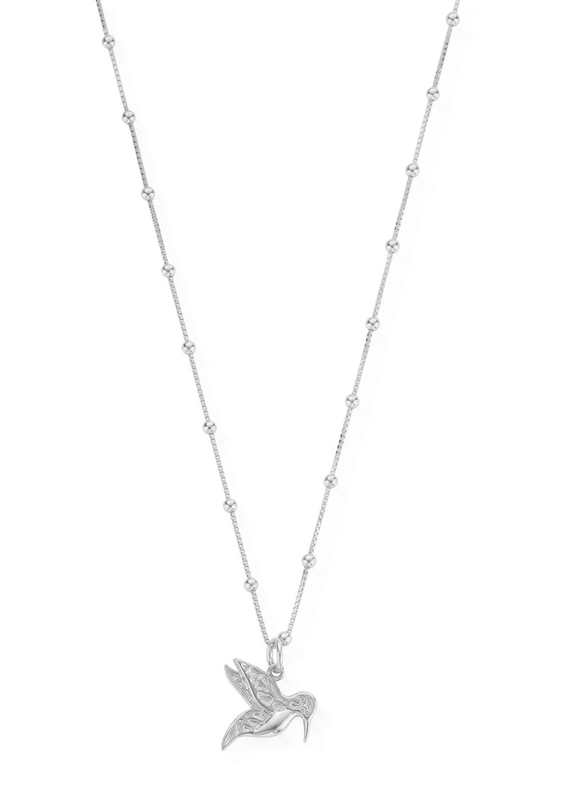 ChloBo Bobble Chain Hummingbird Necklace - Silver main image