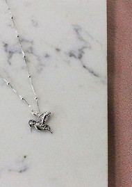 ChloBo Bobble Chain Hummingbird Necklace - Silver
