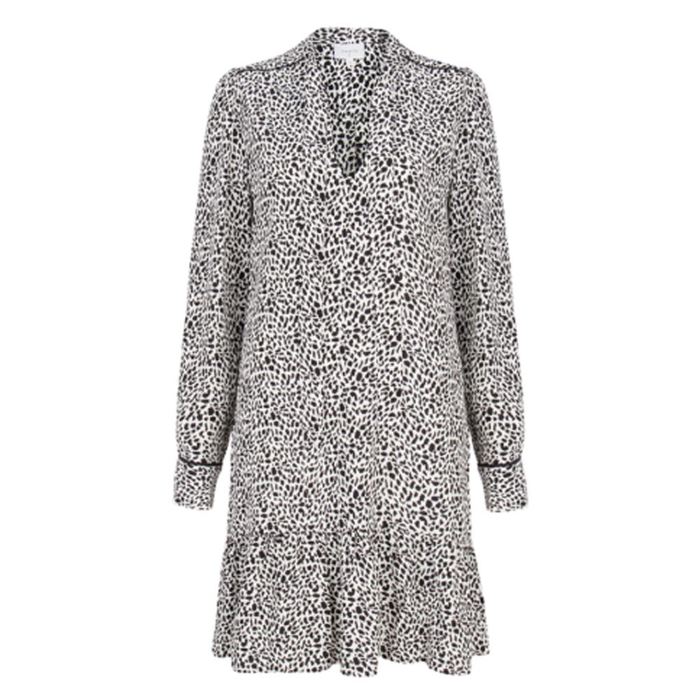 Layla Flash Leopard Dress - Black & White