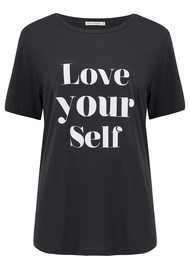 SOUTH PARADE Love Yourself Tee - Black