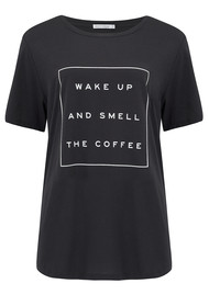 SOUTH PARADE Wake Up And Smell The Coffee Tee - Black
