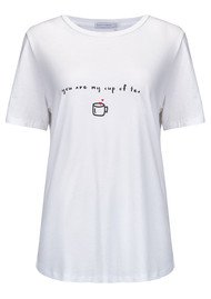 SOUTH PARADE You Are My Cup Of Tea Tee - White