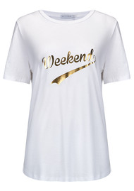 SOUTH PARADE Weekend Tee - White & Gold