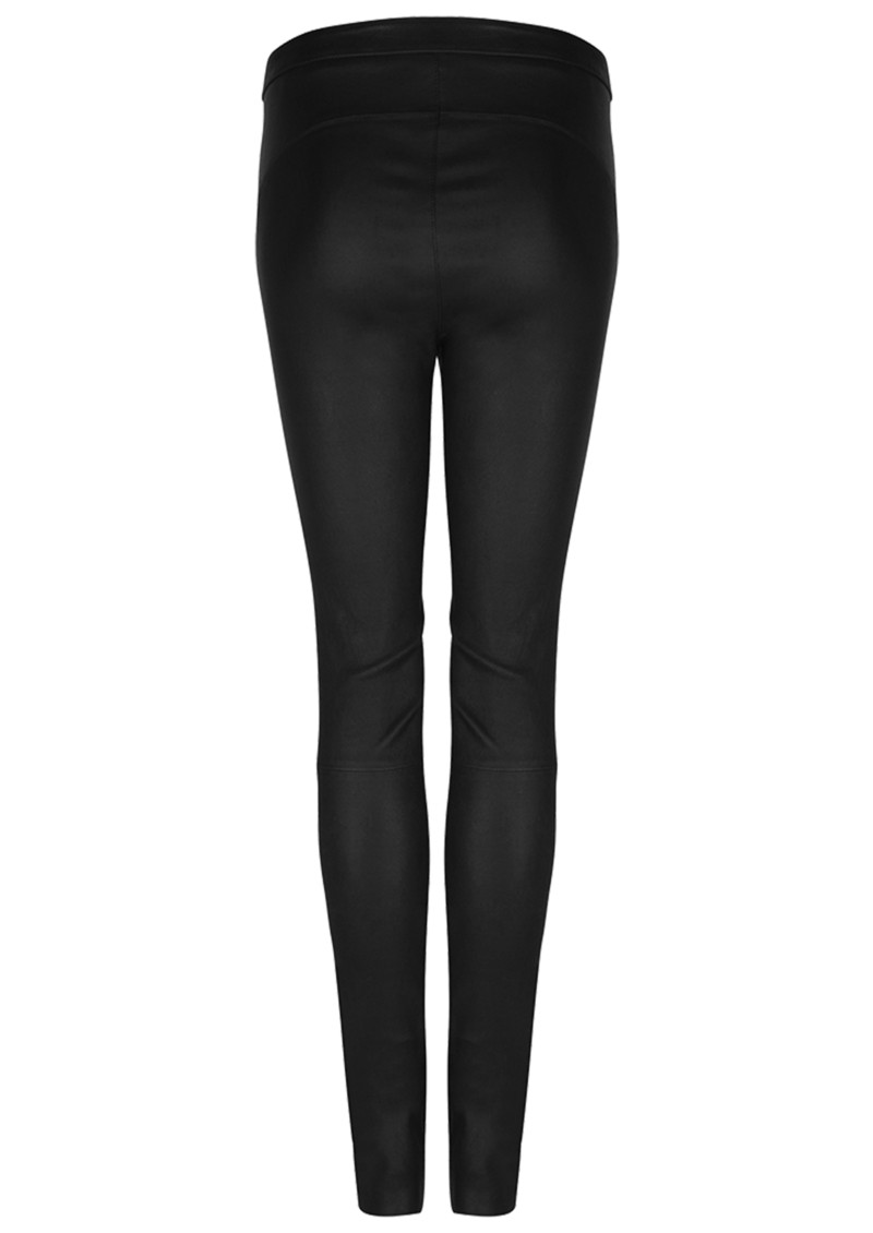 DANTE 6 Campbell Leather Leggings - Raven main image