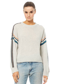 360 SWEATER Teagan Cashmere Sweater - Heather Grey Multi