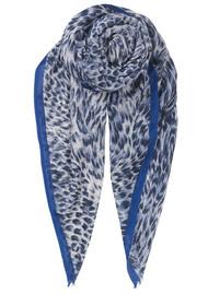 Becksondergaard Emira Leopard Print Scarf - Blue Nights